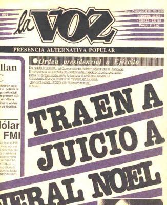 La Voz, el diario de izquierda (Recuerdos de papel 5)