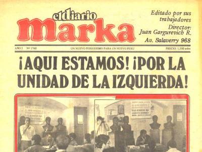 El Diario Marka, prensa alternativa (Recuerdos de papel 6)