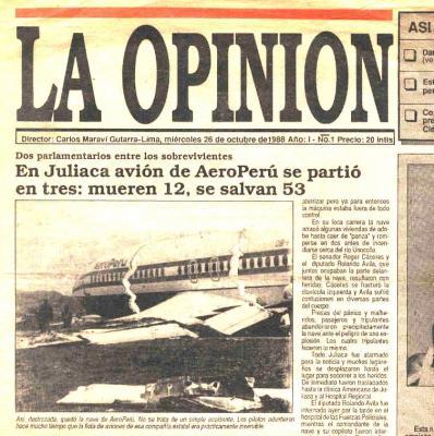 La Opinión, el diario de las noticias breves (Recuerdos de papel 11)