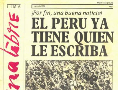 Página Libre, el diario que ´descubrió´ a Fujimori - parte 1 (Recuerdos de papel 18)