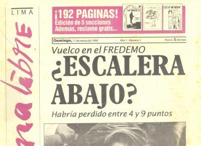Página Libre, el diario que ´descubrió´ a Fujimori - parte 2 (Recuerdos de papel 19)