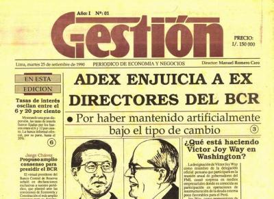Gestión, el primer diario de economía del Perú (Recuerdos de papel 21)